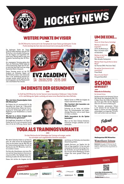 Hockey News 26/09/19