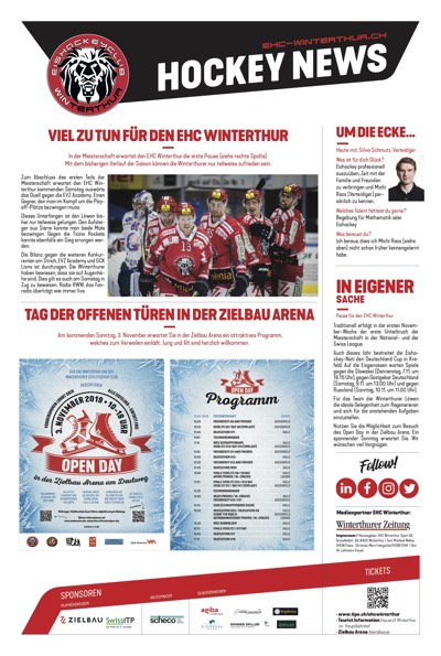 Hockey News 31/10/19