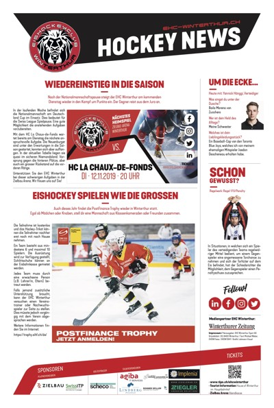 Hockey News 07/11/19
