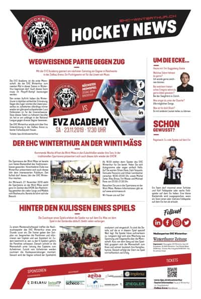Hockey News 21/11/19